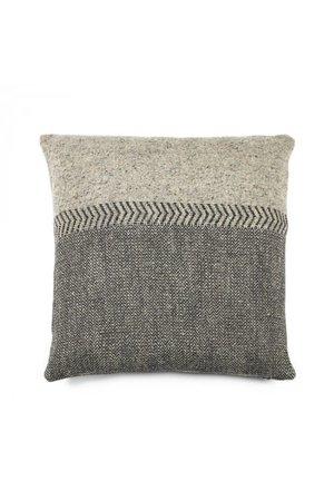 Libeco Jules deco cushion - black Herringbone