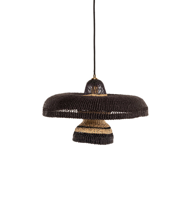 Hanging lamp 'hatter & 2 tier' - midnight/natural