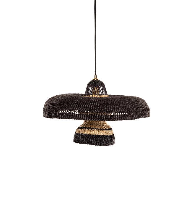 Hanglamp 'hatter & 2 tier' - midnight/naturel