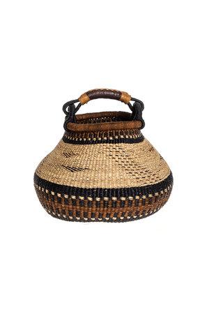 Bolga pot mand aardetinten #4