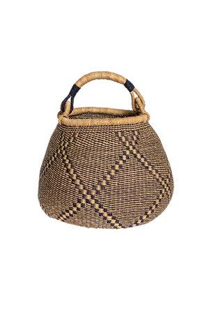 Bolga pot basket - pattern