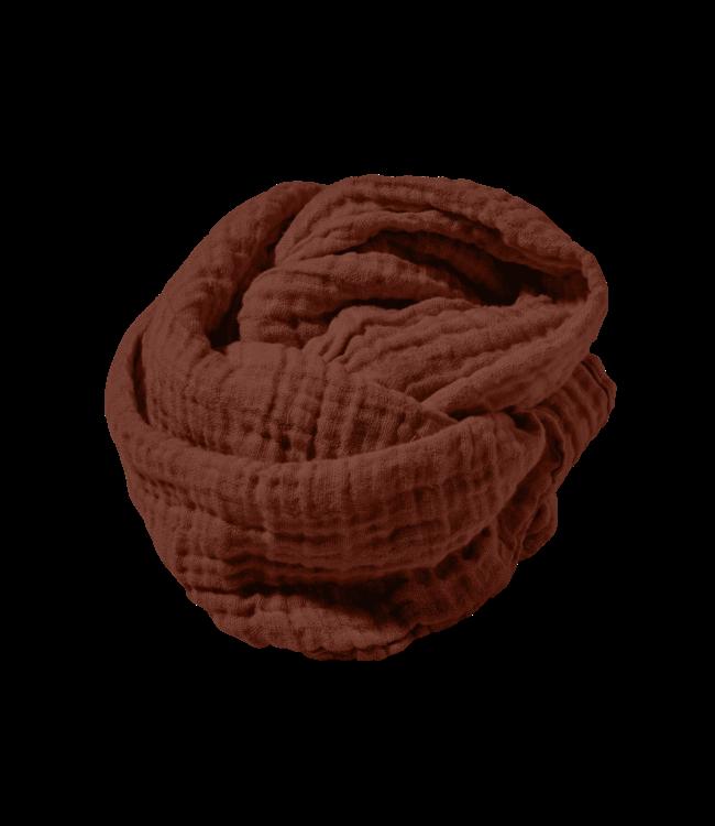 Heavy scarf linen - dark old orange