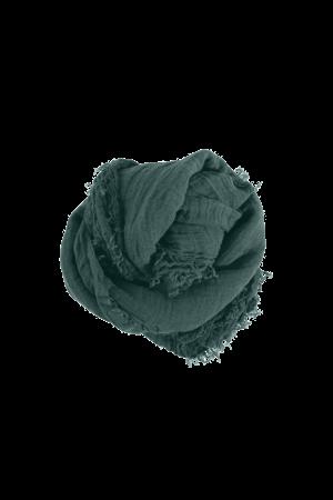 Linge Particulier Square scarf linen - vintage green