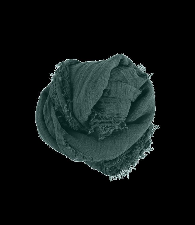 Square scarf linen - vintage green