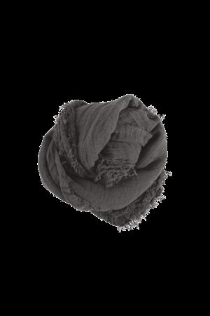 Linge Particulier Linnen sjaal vierkant - storm grey