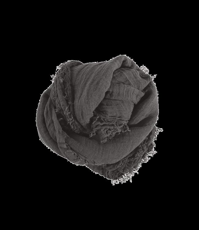 Linnen sjaal vierkant - storm grey