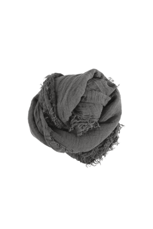 Linge Particulier Linnen sjaal vierkant - real grey
