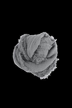 Linge Particulier Linnen sjaal vierkant - blue grey