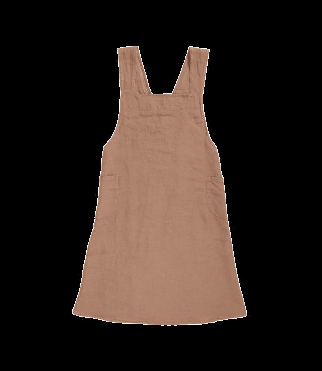 Linge Particulier Japanese apron linen - adult moka