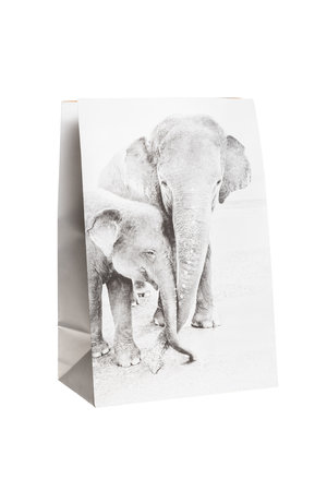 Love Warriors Craft paper photo bag  - elephant #3