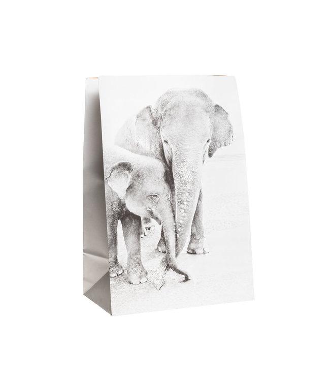 Craft paper photo bag  - elephant #3