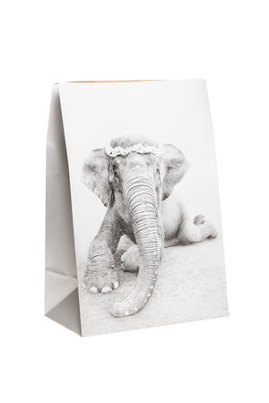 Love Warriors Craft paper photo bag  - elephant #1