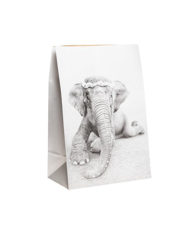 Craft paper photo bag  - elephant #1