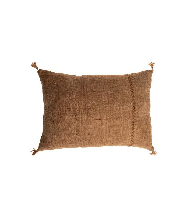 Cushion Bayeta uni millepertuis - cachou