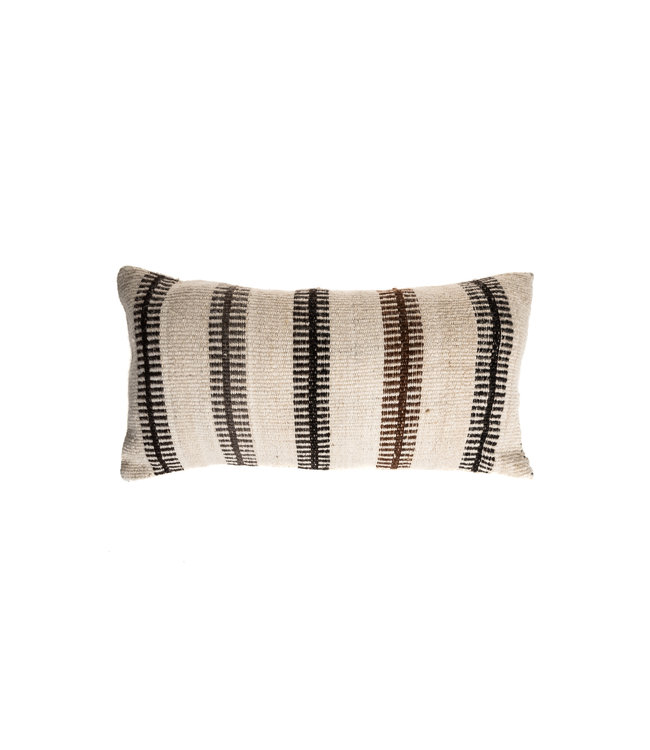 Cushion alpaca esacalera - naturel/brun/noir/gris