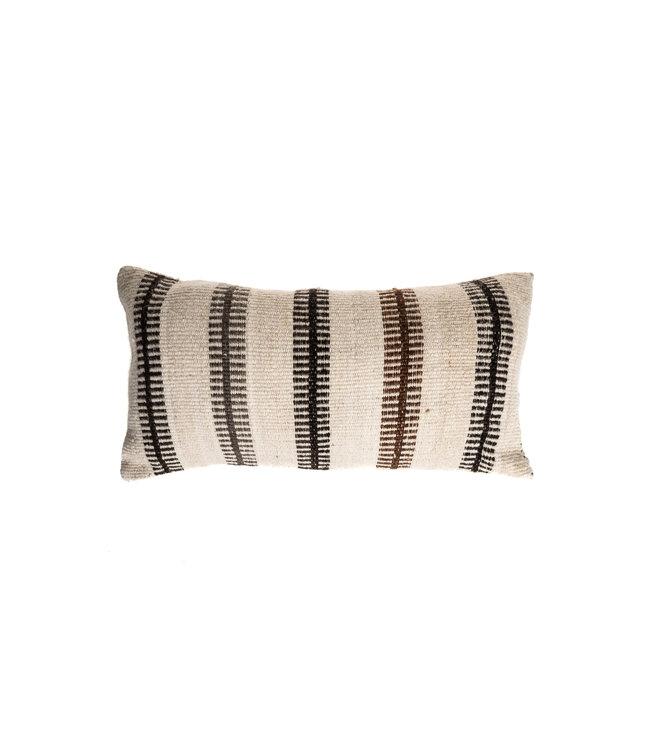 Kussen alpaca escalera - naturel/brun/noir/gris