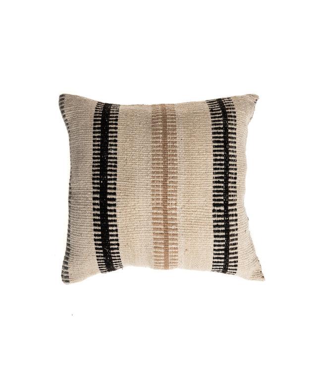 Cushion alpaca esacalera - natural/brun/noir/gris