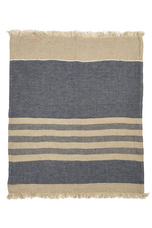 Libeco The Belgian towel fouta - sea stripe