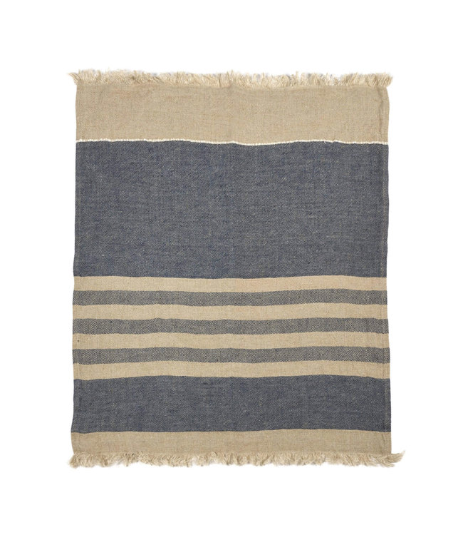Libeco The Belgian towel fouta - sea stripe