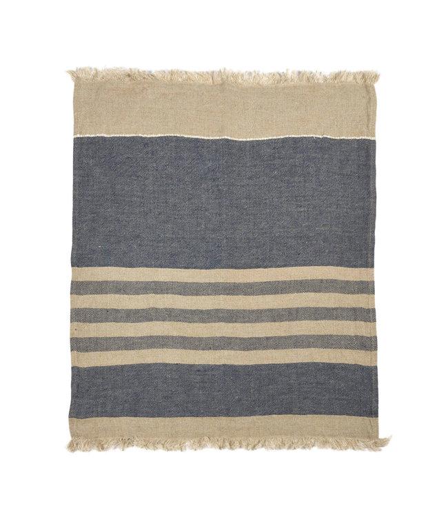 The Belgian towel fouta - sea stripe
