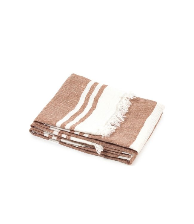 Libeco The Belgian towel fouta - desert stripe