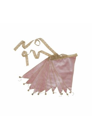 Numero 74 Bunting garland velvet  - dusty pink