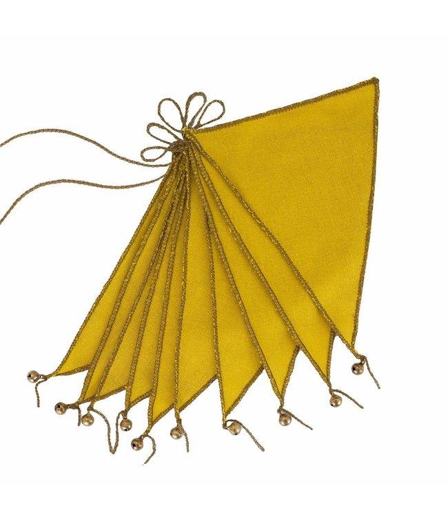 Bunting garland thai cotton - sunflower yellow