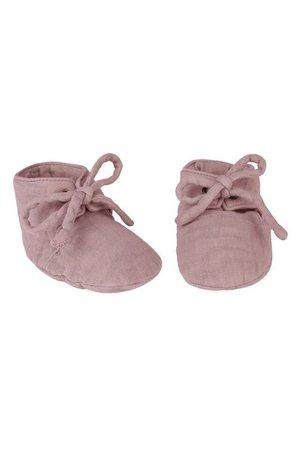 Numero 74 Yoghi zachte baby schoentjes- dusty pink
