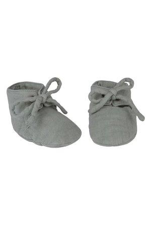 Numero 74 Yoghi zachte baby schoentjes- silver grey