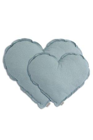 Numero 74 Heart cushion - sweet blue