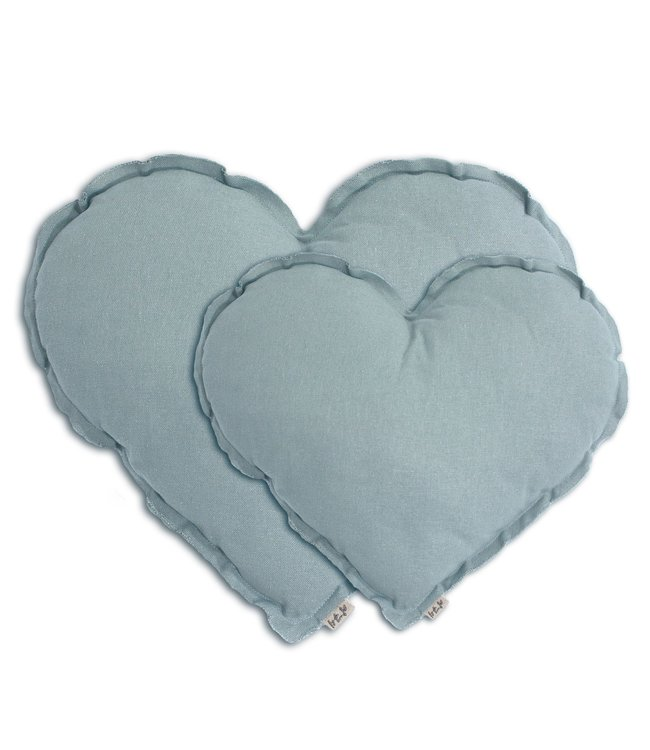 Heart cushion - sweet blue