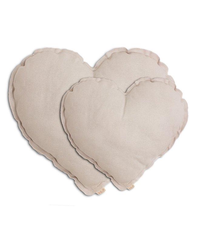 Heart cushion - powder