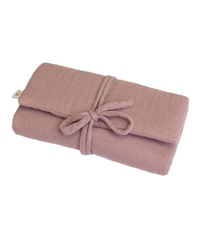 Travel changing pad one size - dusty pink