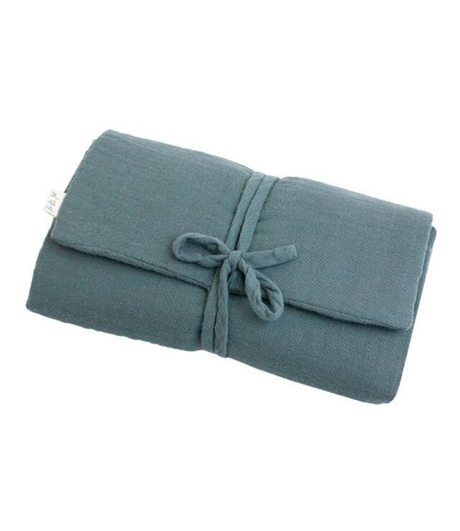 Travel changing pad one size - ice blue