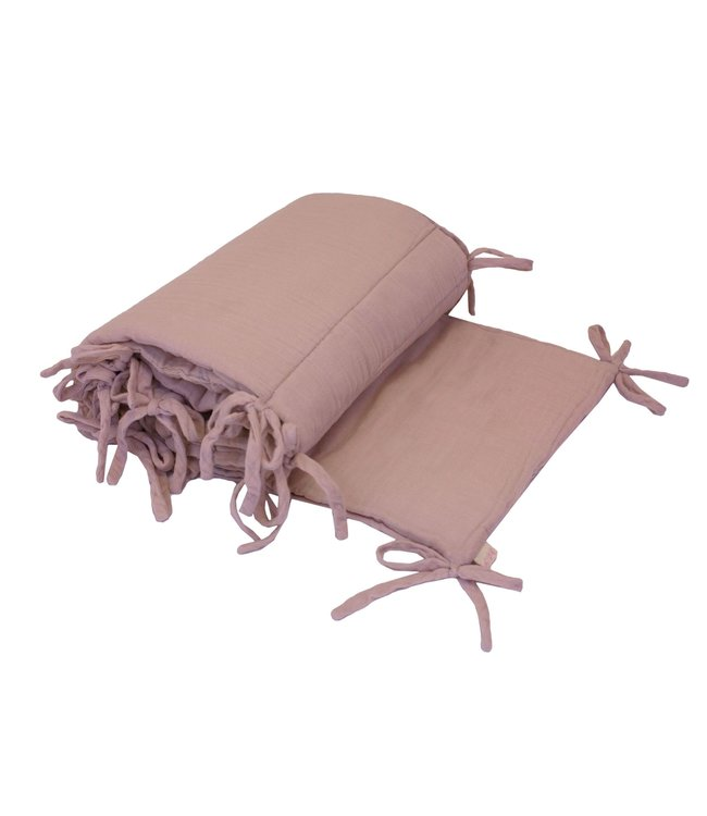 Bed bumper one size - dusty pink