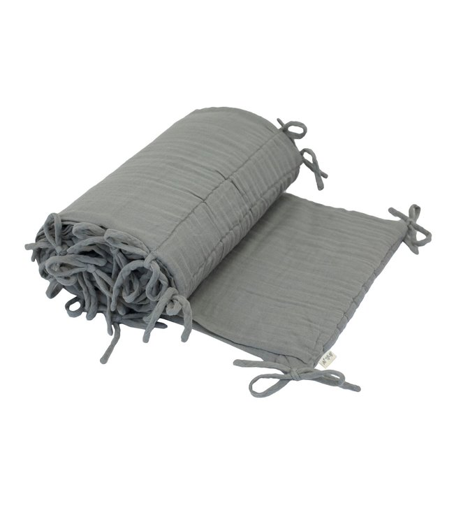 Bed bumper one size - silver grey