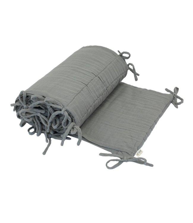 Cot bumper one size - silver grey