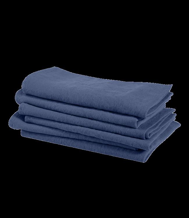 Linge Particulier Napkin linen - atlantic blue