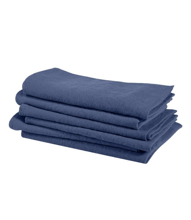 Linge Particulier Servet linnen - atlantic blue