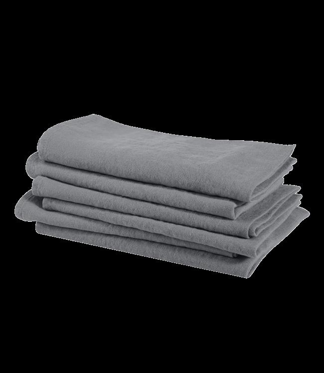 Servet linnen - blue grey