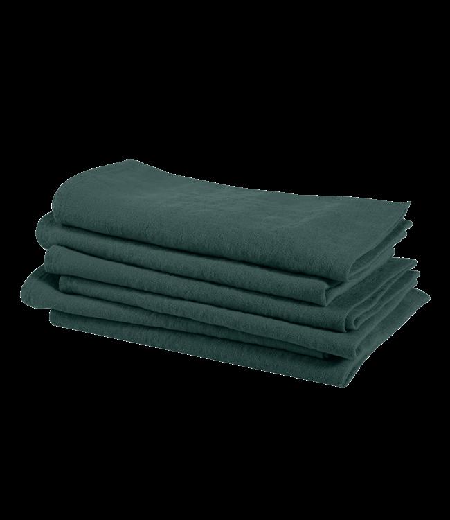 Servet linnen - vintage green