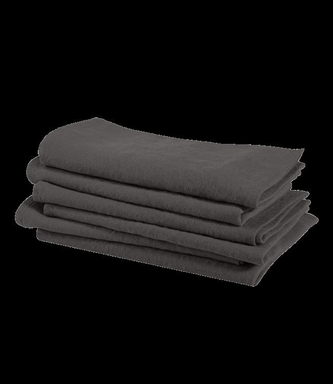 Linge Particulier Servet linnen - storm grey