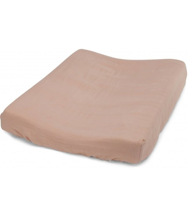 Fitted sheet for changing cushion - rose dust