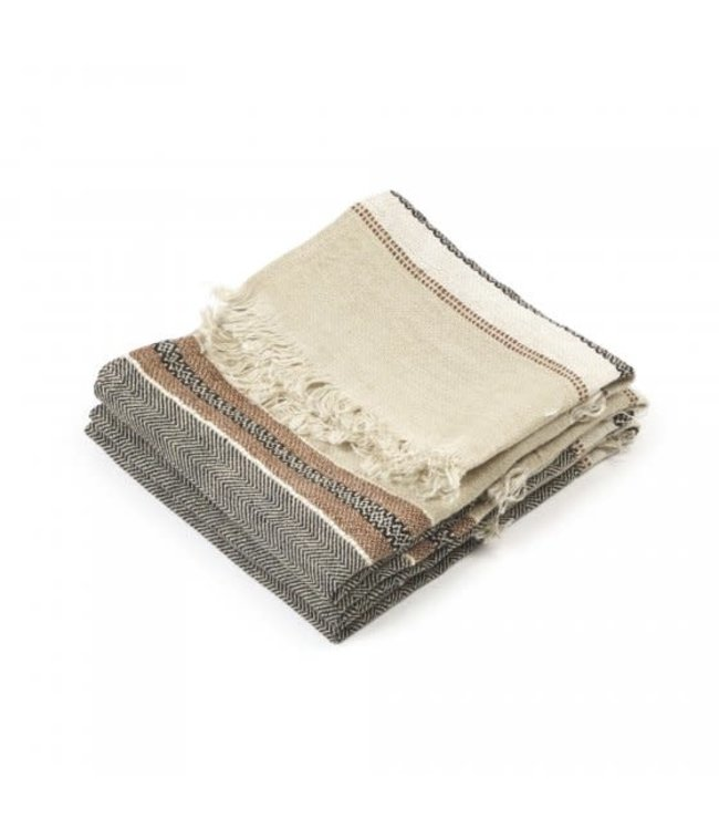 The Belgian towel fouta - beeswax stripe
