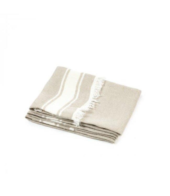 The Belgian towel fouta - flax stripe