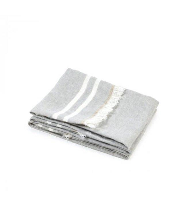 The Belgian towel fouta - gray stripe
