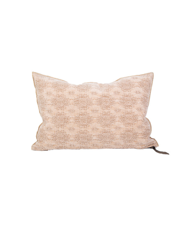 Cushion vice versa, stone washed jacquard kilim - biche