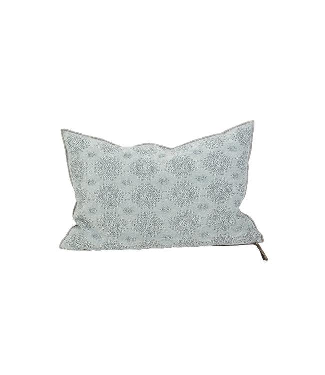 Maison de Vacances Cushion vice versa, jacquard stone washed kilim - aqua