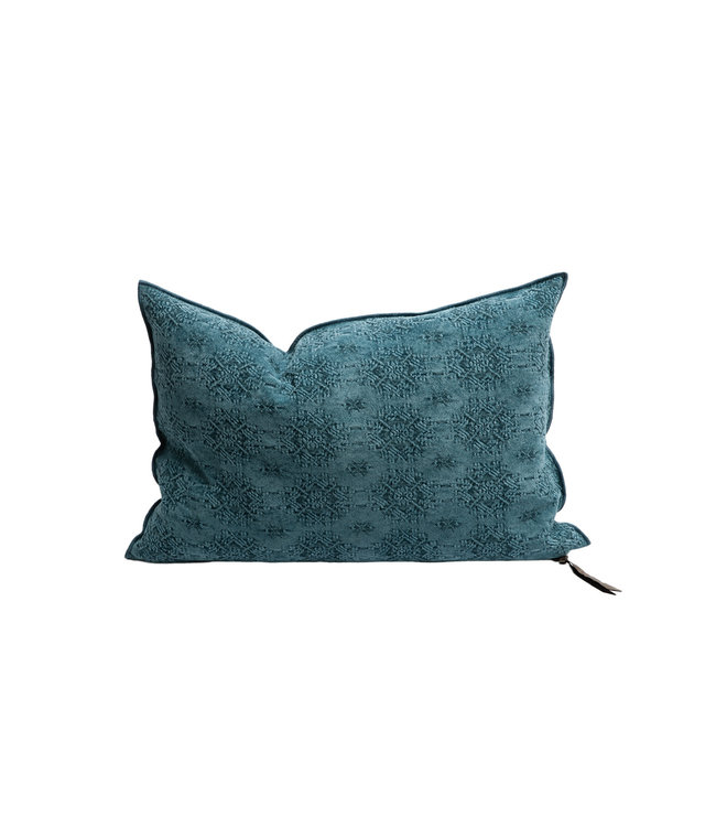 Maison de Vacances Cushion vice versa, stone washed jacquard kilim - riviera