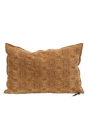 Maison de Vacances Cushion vice versa, stone washed jacquard kilim - terracotta